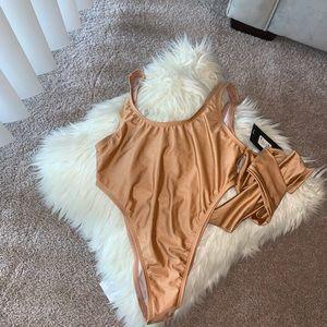 Fashion Nova Tied Down Swimsuit